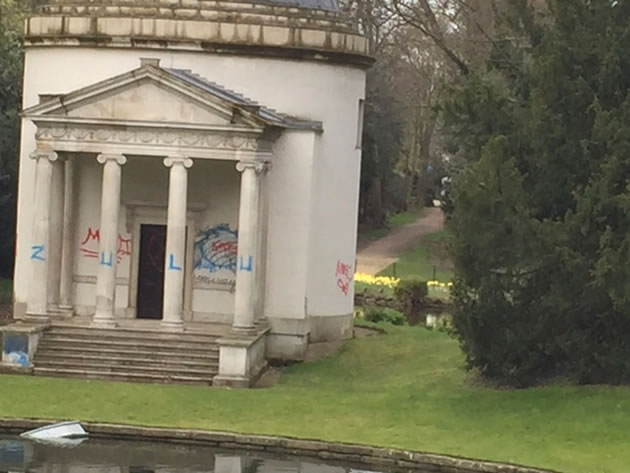 Ionic Temple at Chiswick House vandalised