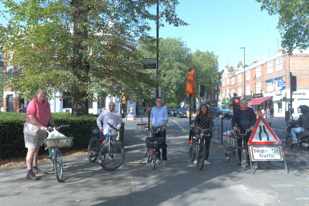 Hounslow Council Cabinet Members get on their bikes with Will Norman