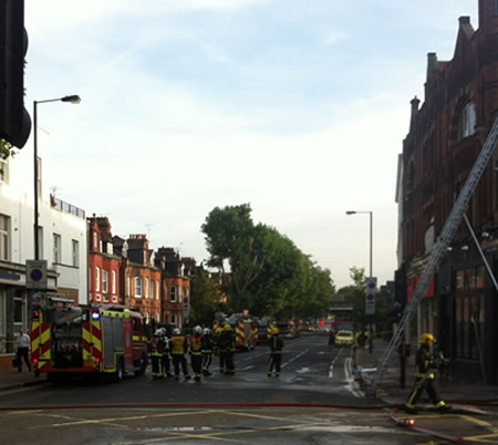 Building Over Artisan Coffee Shop Goes Up In Flames