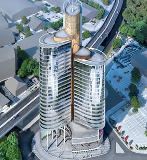 Tricorn Tower plan for Chiswick Roundabout