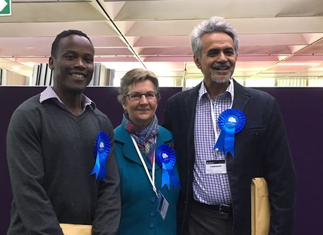 Turnham Green's Councillors - Ron Mushiso, Joanna Biddolph and Ranjit Gill