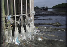 sewage output into Thames