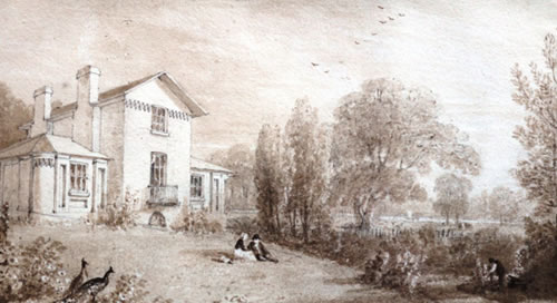 William Havell drawing of Turner House, courtesy of Turner Trust